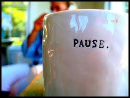 pause coffee cup