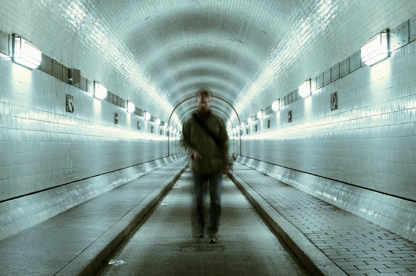 blurred, man standing, subway