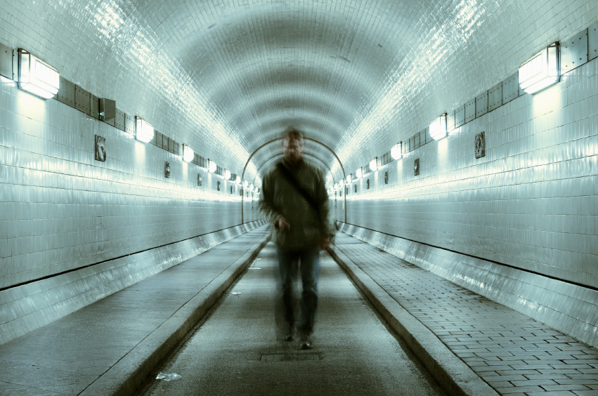 blurred, man standing, subway