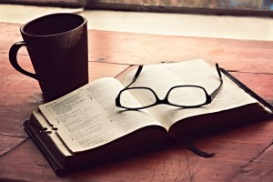 coffee bible glasses